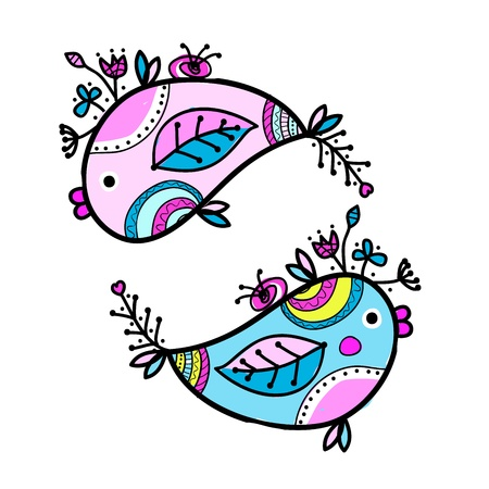 Sketch of funny fishes for your design Stock Vector - 16709468