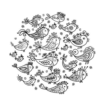 aqu�rio: Esbo�o de peixes engra�ados para seu projeto