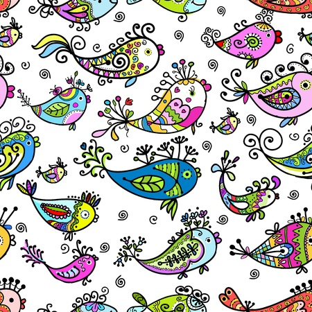 fish tail: Seamless pattern with funny fishes for your design