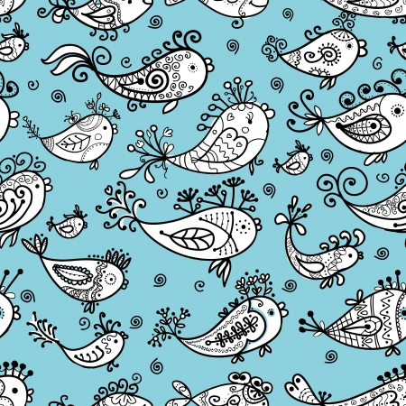 Seamless pattern with funny fishes for your design Stock Vector - 16709683