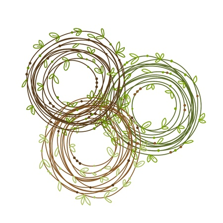 Nest frame for your design Vector
