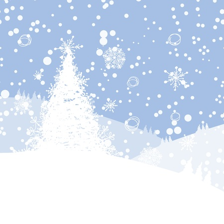 Winter tree for your design  Christmas holiday  Vector