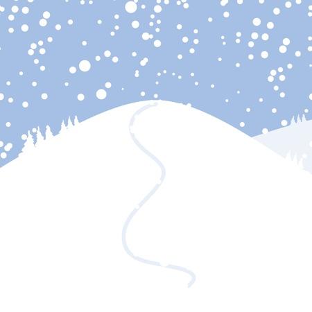 Winter landscape for your design Illustration