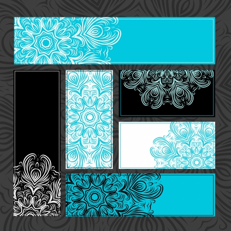 Vintage ornamental cards for your design Vector