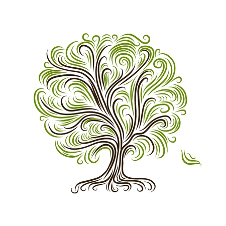 Abstract tree with roots for your design Vector
