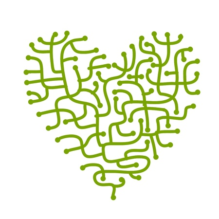 Maze of love, heart shape for your design Stock Photo - 19118054