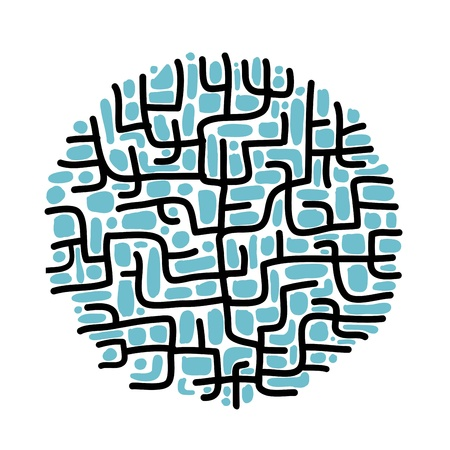 Abstract labyrinth shape for your design Vector