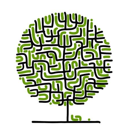 arbol de problemas: Árbol Maze para su diseño