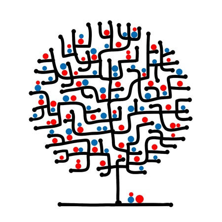 Maze tree for your design Vector