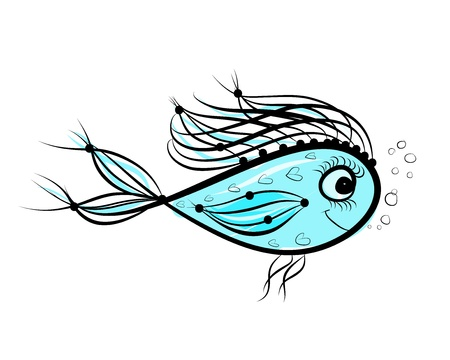 Sketch of funny fish for your design Stock Vector - 19631342
