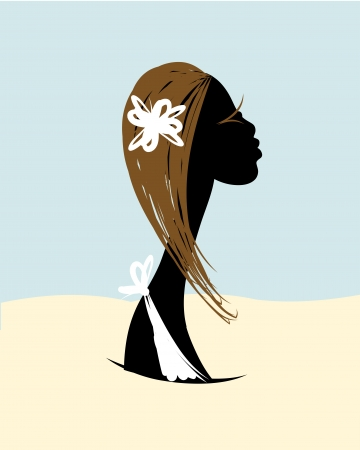 Female head silhouette for your design Stock Vector - 20232896