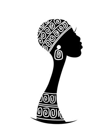 elegância: Silhueta da cabe Ilustração