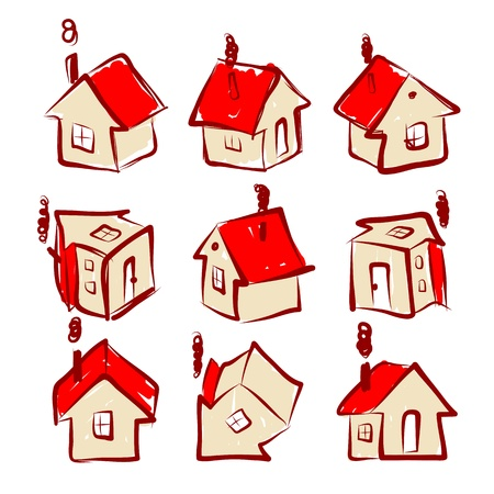 Set of house icons for your design Stock Vector - 20498254