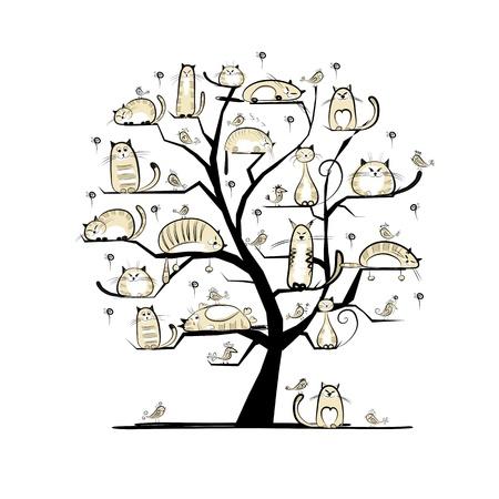 ? En el árbol genealógico de su diseño Foto de archivo - 20498236
