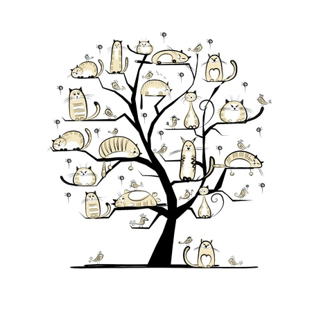 ?at family tree for your design Stock Vector - 20498236
