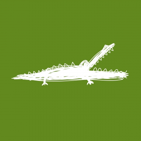 Sketch of funny crocodile for your design Vector