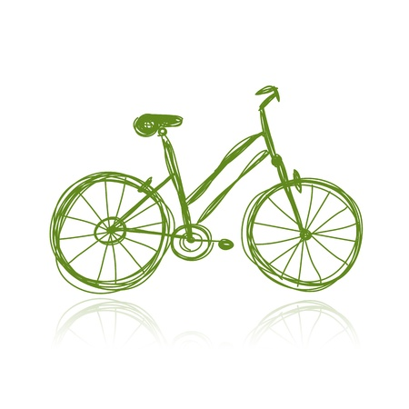 bicycling: Bicycle green sketch for your design