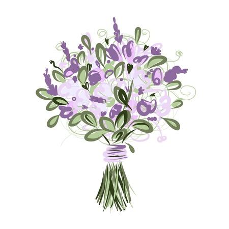 디자인을위한 꽃 부케