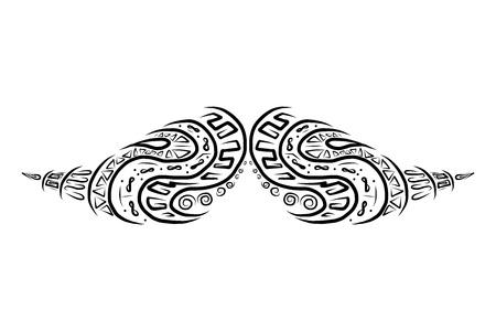 burly: Ornate mustache shape