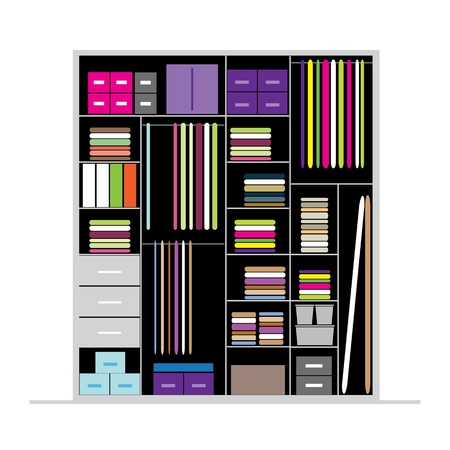 Wardrobe inside illustration Stock Vector - 20617088