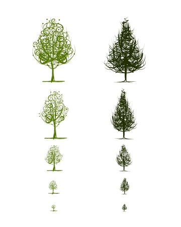burgeon: Stages of growing trees
