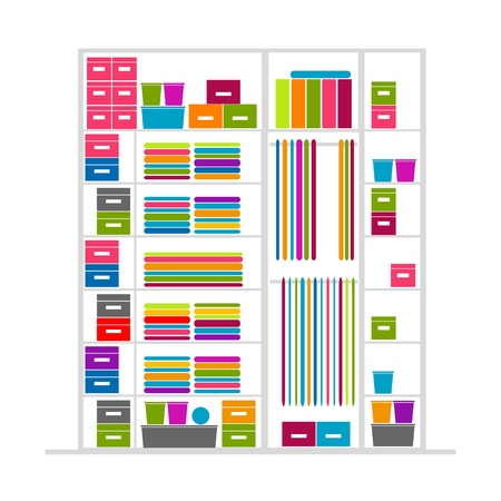 Wardrobe inside illustration Vector