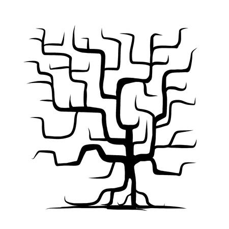plats: Tree trunk isolated Illustration