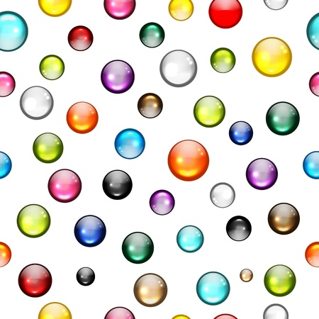 glass texture: Glossy balls seamless pattern for your design