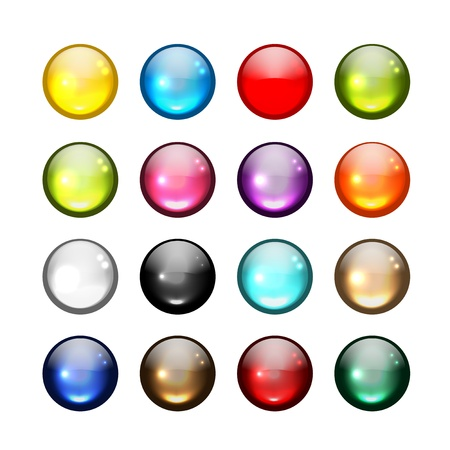 Set of glossy button icons for your design Stock Vector - 20925963