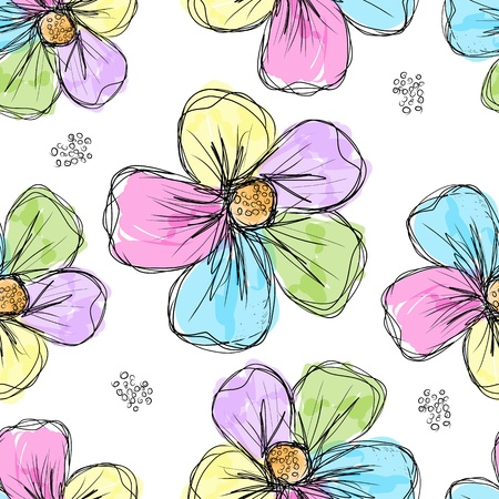 Floral seamless background for your design Stock Vector - 20925969