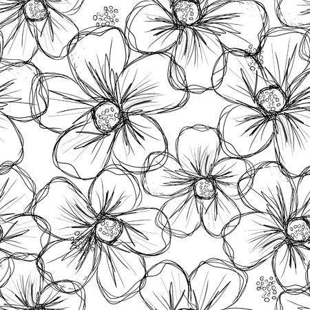 あなたのデザインの花柄シームレスな背景  イラスト・ベクター素材