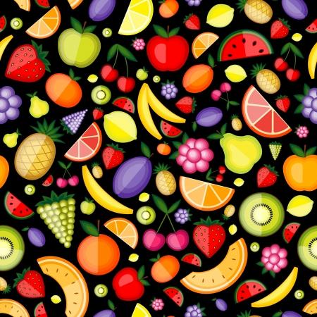 果物、設計のためのシームレスなパターン  イラスト・ベクター素材