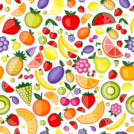 Fruits seamless pattern for your design Illustration
