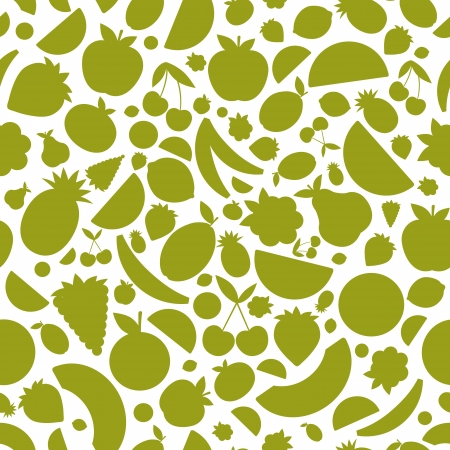Fruits seamless pattern for your design Vector