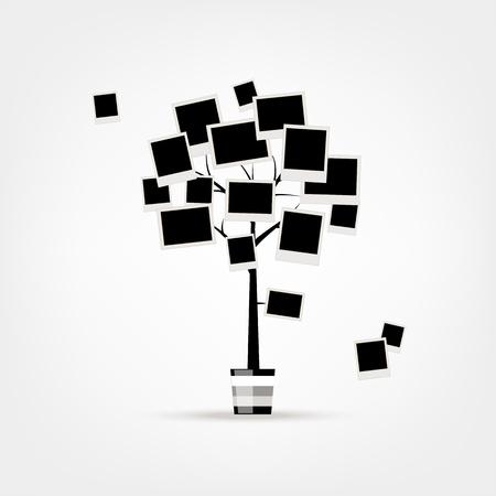 Family tree design, insert your photos into frames Vector