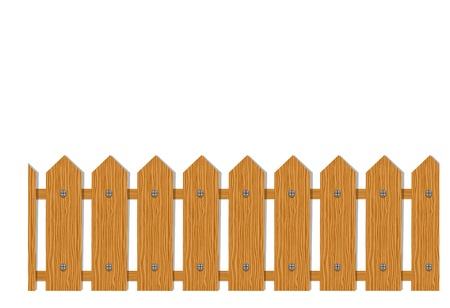 Wooden fence, seamless pattern for your design Vector