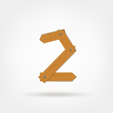 nailed: Number two made from wooden boards for your design