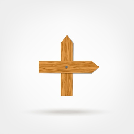 cross shape: Cross shape made from wooden boards for your design