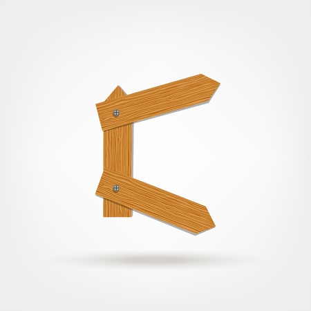 nailed: Letter made from wooden boards for your design