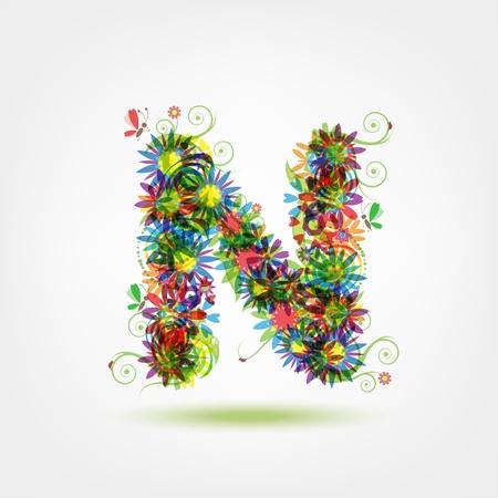 love letters: Floral letter for your design