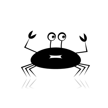 Funny crab for your design Vector