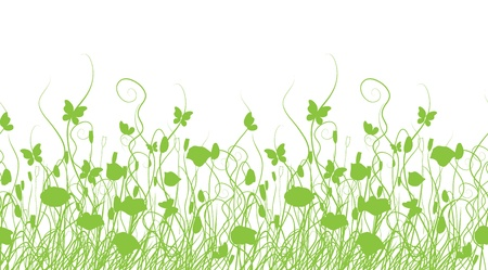 grass silhouette: Green meadow, seamless pattern for your design