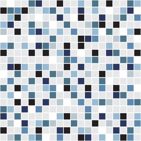 blue white kitchen: Mosaic seamless pattern for your design