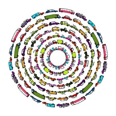 transport: Bilar samlingen ram för din design