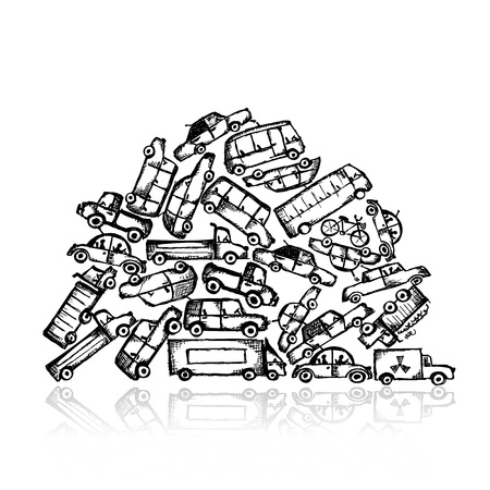 juguetes antiguos: Pila de diversos coches