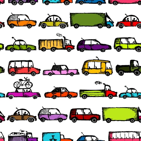Toy cars collection, seamless pattern for your design Stock Vector - 21803137