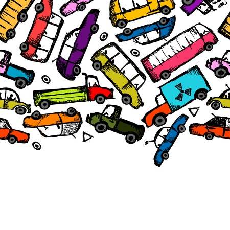 Toy cars collection, seamless pattern for your design Stock Vector - 21803138