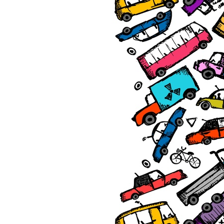 Toy cars collection, seamless pattern for your design Stock Vector - 21803139