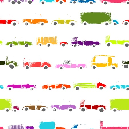Toy cars collection, seamless pattern   Stock Vector - 21986148
