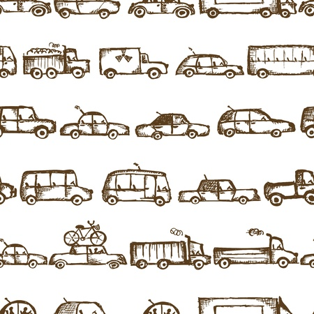 Toy cars collection, seamless pattern   Stock Vector - 21986149